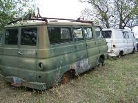 Two 1969 Dodge A100 Vans