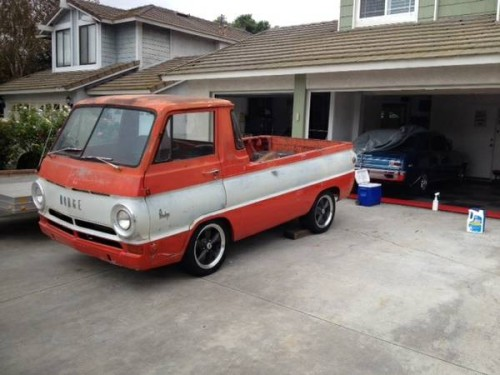 1965 dodge a100 pickup truck for sale in chino california 7k. Black Bedroom Furniture Sets. Home Design Ideas