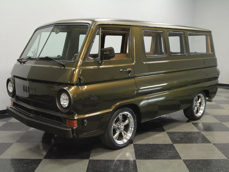 Restored Wood Panel 1966 Dodge A100 Window Van For Sale Charlotte NC