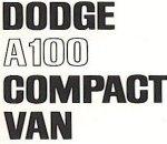 Dodge A100 Compact Van